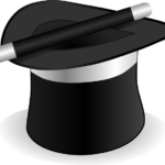 top hat with magic wand