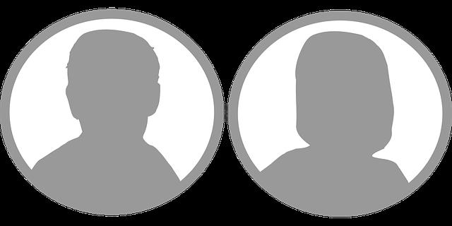branding male & female faces in silhouette
