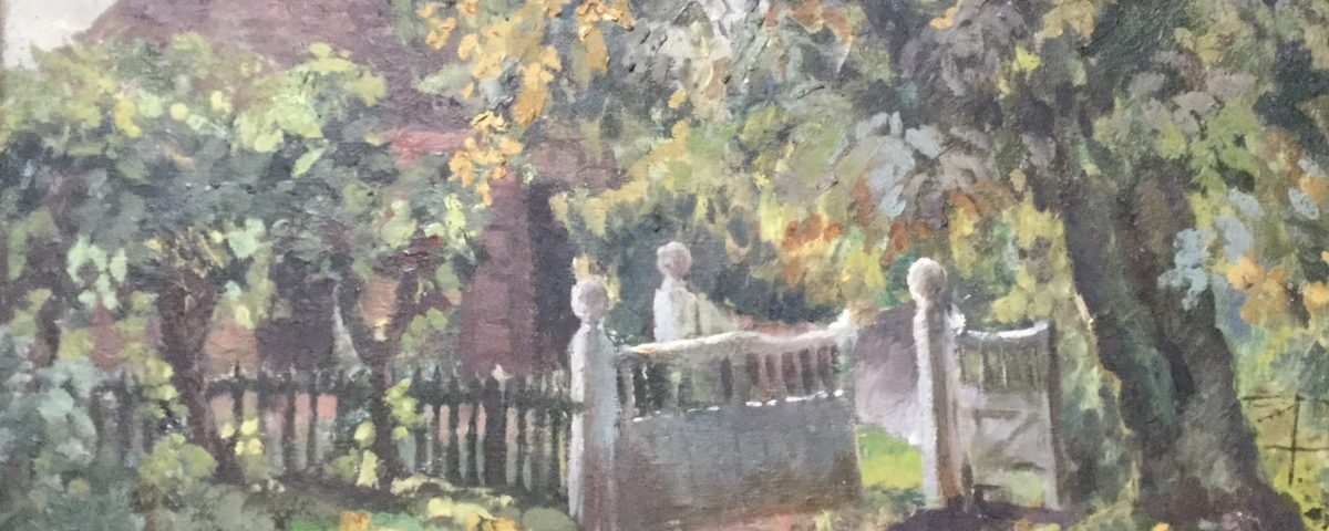 Benton End Gates Oil Painting by Mollie Russell Smith